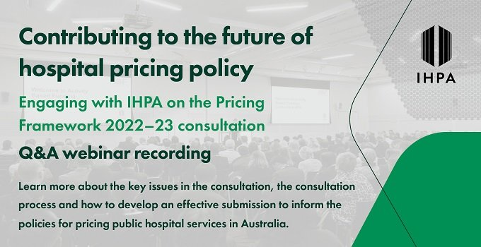 Contributing to the future of hospital pricing policy